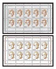 Germany Zehnerbogen/Mini Sheets MiNr. 1955+1956/Sc# 1724+1731, issued 2001, MNH