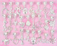 50pcs Silver Plated Bulk Lots Charms Dangle Fit Bracelet NY01