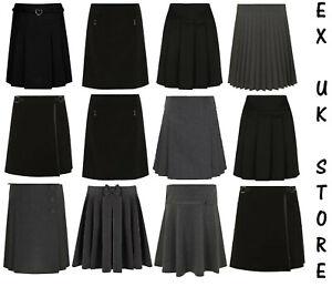GIRLS SCHOOL SKIRT UNIFORM EX UK STORE 2-16Y GREY BLACK NAVY RANDOM PICK NEW