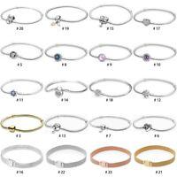 European Silver charms Bracelet Bangle chain For S925 silver dangle pendant bead