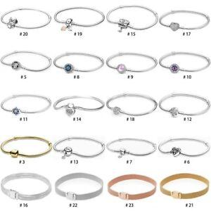 S925 European Silver Bracelet Bangle Snake chain Fit charms dangle pendant bead