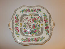 Aynsley Bone China Cake Bread Plate Indian Tree Design Lovely
