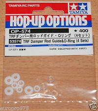 Tamiya 53574 TRF Damper Rod Guide & O-Ring (4 Sets) (TRF416/TRF417/TRF418)