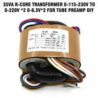 35VA R-core transformer 0-115-230V to 0-220V *2 0-6.3V*2 for tube preamp DIY