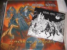"RITUAL STEEL A HELL OF A KNIGHT + 7"" METAL SUPREMACY MEGA RARE!! metal law inqui"