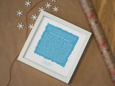 More details for metallica nothing else matters - personalised framed lyrics print birthday gift