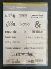 Stampin' Up! Remember This - Project Life Stamp Set - Retired!