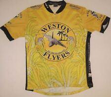 Louis Garneau Short Sleeve Yellow Bike Cycling Jersey 3 /4 Zip Sz M Fighter Jet