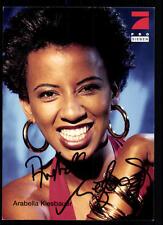 Arabella Kiesbauer Pro 7 Autogrammkarte Original Signiert ## BC 35542