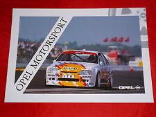 OPEL Motorsport Omega DTM Formel Opel Lotus Formel 3 Prospekt von 1992