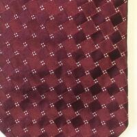 Giorgio Armani Men's Garnet Red Silver Textured Luxury Silk Necktie Italy