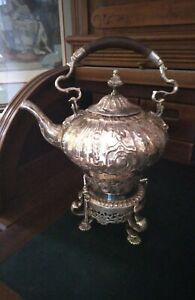 GORGEOUS Antique Victorian Silver Plated Hot Water Samovar Urn/Teapot