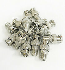 10 Pcs F Female to BNC Male Coax RF Connector RG6 RG59 Adapter