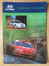 HYUNDAI ACCENT WRC 1999 UK Mkt publicity brochure Coupe Evo II F2 McRae Eriksson