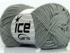 Grey Cotton Bamboo Yarn Ice #41438 Baby / Sport Weight 50 Gram 153 Yards