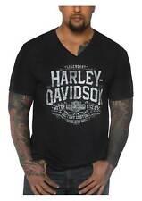 Harley-Davidson Men's Declare Short Sleeve Tri-Blend V-Neck Tee, Vintage Black