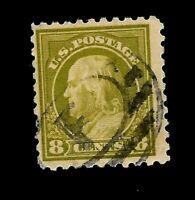 US 1913-15  Sc# 431 8 c Franklin  USED - Unique Cancel - Crisp Color