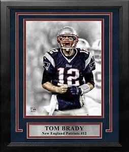 """Tom Brady Scream Spotlight New England Patriots 8"""" x 10"""" Framed Football Photo"""