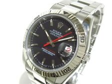 Auth ROLEX Datejust Turn O Graph 116264 Black Z763204 Men's Wrist Watch
