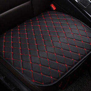 Universal Car Seat Cover Front Cushion Black PU+Red Line Car Chair Accessories