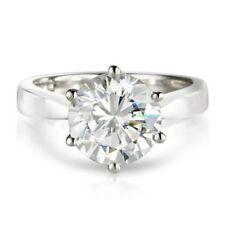 Platinum Solitaire Round Fine Diamond Rings
