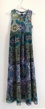 Ted Baker Patterned Sleeveless Maxi Dress Size 2 UK 10