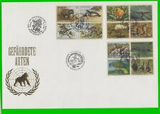 United Nations 1994 Embossed Large Cachet Endangered Species all 3 Cancels