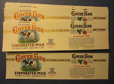 Wholesale Lot of 50 Old Vintage - Clover Farm Evaporated MILK CAN LABELS - COW
