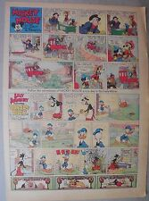 Mickey Mouse Sunday Page by Walt Disney from 8/1/1937 Tabloid Page Size
