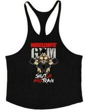Men Bodybuilding Tank Top Muscle T-Shirt Gym Fitness Stringer Superman Shirts
