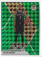 2019-20 Panini Mosaic basketball green refractor parallel Kevin Durant No.1