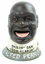 Smilin Sam de Alabama The salé Peanut MAN eisenkopf Tirelire Antique déco usa