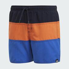 Adidas Boys Colorblock Swim Shorts Kids Beach Swimming Pool Training Short