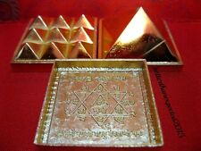 "Big Vastu Pyramid Set-Positive Energy Tool- Set Of 3 Plate -2""- 91 Pyramids"