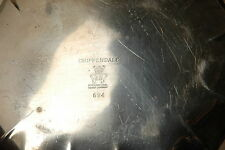 CHIPPENDALE SILVERPLATE SCALLOPED TRAY  INTERNATIONAL SILVER CO. # 694