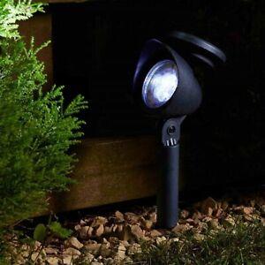 4 Pack Solar Powered LED Garden Spot Lighting Bright Garden Stake Outdoor Light