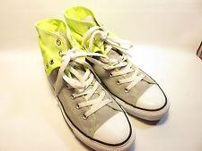 Converse Double Uppers Gray & Neon Green Hi Top Sneakers Women's 10 Med EUC