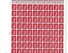 Complete stamp sheet / Adolph Hitler PF12 / 1941 Third Reich / 100 MNH stamps