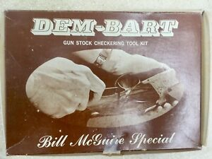 Dem-Bart Gun Stock Checkering Tool Kit Bill McGuire Special 6 piece set w/Extras