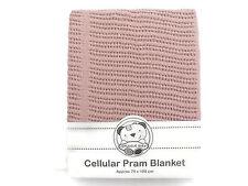 Cotone Cellulare Carrozzina COPERTA 75 x 100 cm Colore Rosa