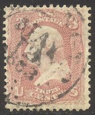 U.S. #64 Used BEAUTY w/Cert - 3c Pink