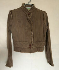 Miss Me Jacket Medium Brown Long Sleeves Buttoned Junior Womens