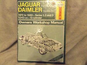 HAYNES MANUAL JAGUAR DAIMLER XJ12 XJS DOUBLE SIX 1972 TO 1980 SERIES 1,2,3 478