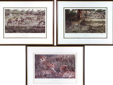 Alan M Hunt Trio of Limited Edition Wildlife Prints