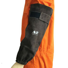 """AP-9109 19"""" Long Fire & Heat Resistant Cowhide Leather Welding Safety Sleeves"""