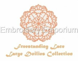 FREESTANDING LACE LARGE DOILIES COLLECTION -MACHINE EMBROIDERY DESIGNS ON CD/USB