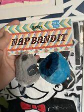 Bark Box Dog Toy Camp Squeakaway Nap Bandit Raccoon Barkbox Size XS/S New