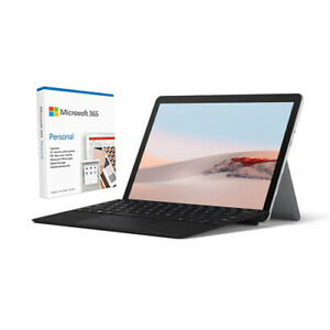 Microsoft Surface Go 2 10.5 Intel Pentium Gold 4GB RAM 64GB eMMC Platinum Bundle