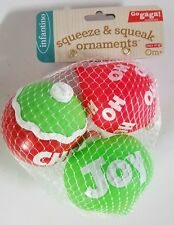 Infantino Go Gaga! 3 Pack of Squeeze & Squeak Ornaments Baby Toy 0m+