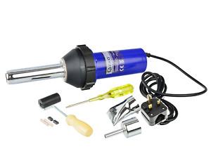 1080W Plastic Hot Air Welding Gun Welder Torch + 2 x Nozzles + Roller + Adapter